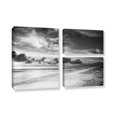 Atlantic Sunrise No.20 3 Piece Photographic Print on Wrapped Canvas Set