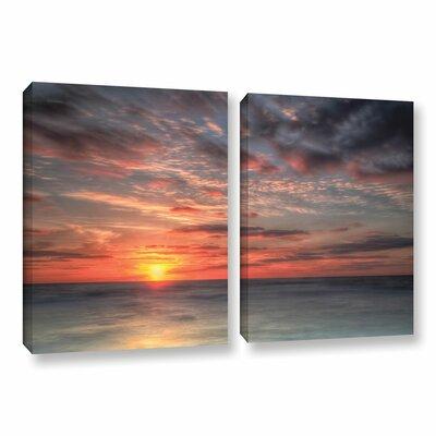 Atlantic Sunrise No.9 2 Piece Photographic Print on Wrapped Canvas Set