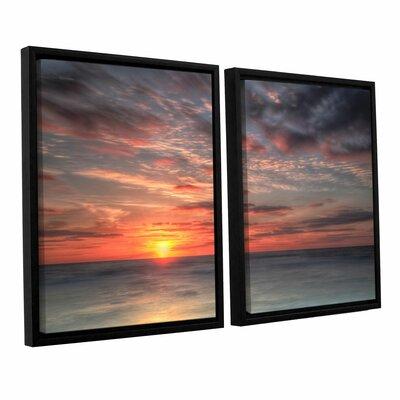 Atlantic Sunrise No.9 2 Piece Framed Photographic Print Set