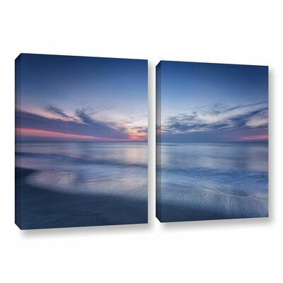 Atlantic Sunrise No.7 2 Piece Photographic Print on Wrapped Canvas Set