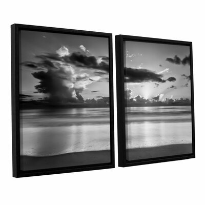 Atlantic Sunrise No.19 2 Piece Framed Photographic Print Set