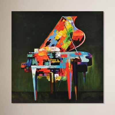 Abstract Piano Original Painting on Canvas
