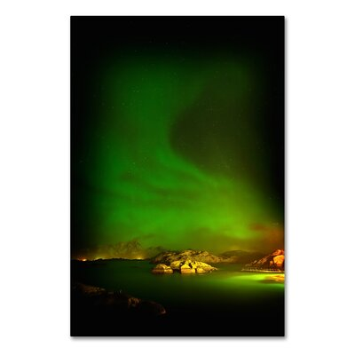 Aurora Borealis Photographic Print on Wrapped Canvas