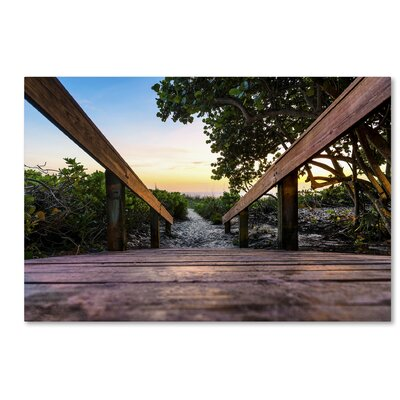 Boardwalk Miami Photographic Print on Wrapped Canvas