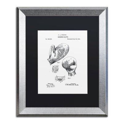 Boxing Gloves Patent 1894 White Framed Graphic Art