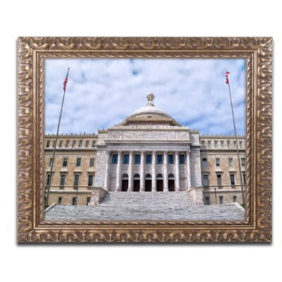 Capitol of Puerto Rico Framed Photographic Print Size: 11