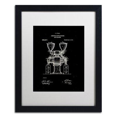 Coffee Grinder Patent 1911 Black Gicl�e Framed Graphic Art LTRN7824 30965150