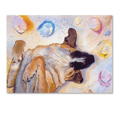 Dog Dreams Painting Print on Wrapped Canvas Size: 14