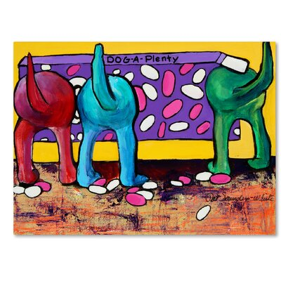 Dog-A-Plenty Painting Print on Wrapped Canvas