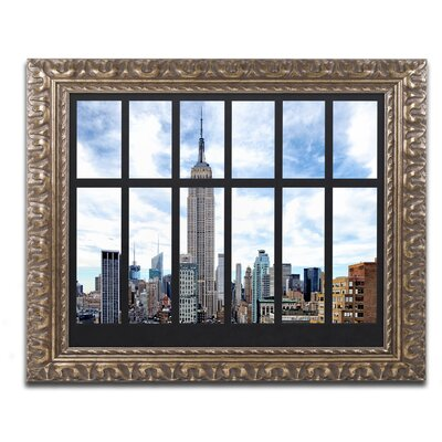 Empire State Building View Framed Photographic Print