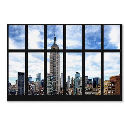 Empire State Building View Photographic Print on Wrapped Canvas