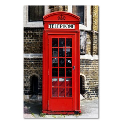 English Phone Booth London Photographic Print on Wrapped Canvas