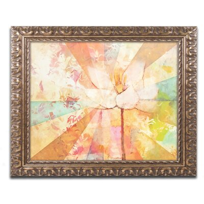 Flowerbeams Framed Painting Print Size: 11