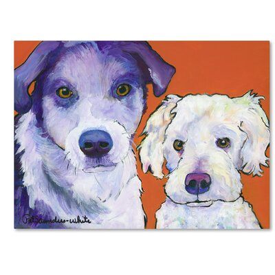 Milo and Max Painting Print on Wrapped Canvas Size: 14