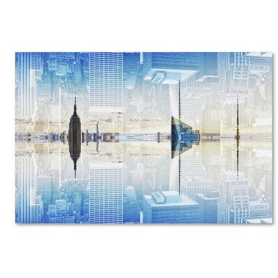 New York Reflection X Photographic Print on Wrapped Canvas Size: 12