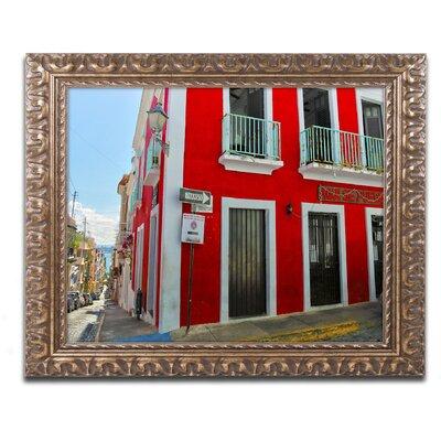 Old San Juan 13 Framed Photographic Print Size: 11