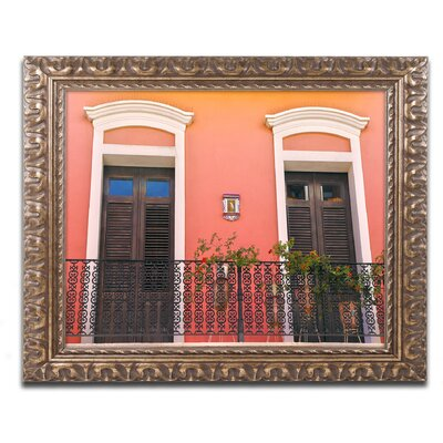 Old San Juan 15 Framed Photographic Print Size: 11