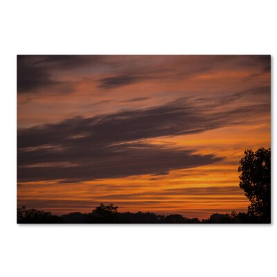 Sky on Fire Photographic Print on Wrapped Canvas