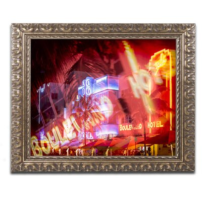 Spotlight on Miami Beach Framed Photographic Print