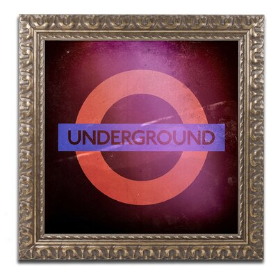 Subway City Art London Framed Photographic Print Size: 16