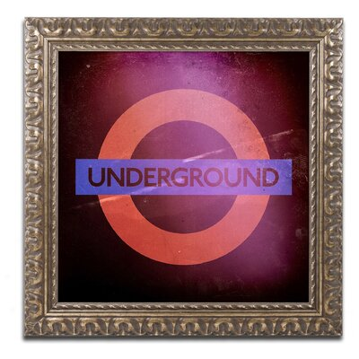 Subway City Art London Framed Photographic Print Size: 11