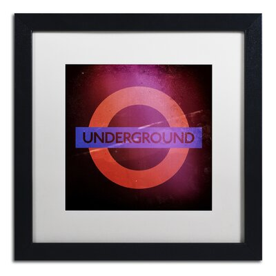 Subway City Art London Framed Graphic Art Size: 16