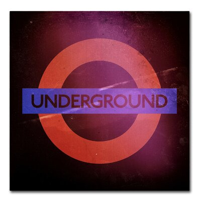 Subway City Art London Graphic Art on Wrapped Canvas Size: 14