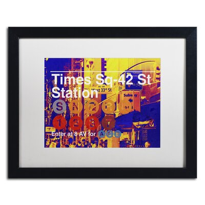 Subway City Art NYC Framed Photographic Print