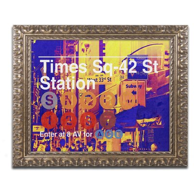 Subway City Art NYC Framed Graphic art