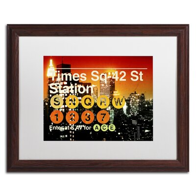 Subway City Art NYC III Giclée Framed Photographic Print