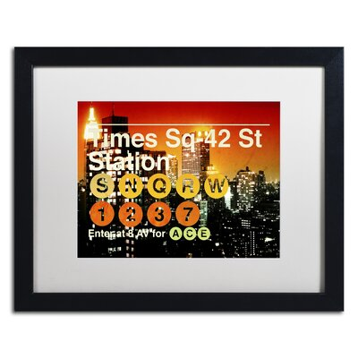 Subway City Art NYC III Framed Photographic Print