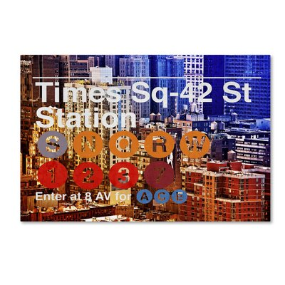 Subway City Art NYC IV Photographic Print on Wrapped Canvas