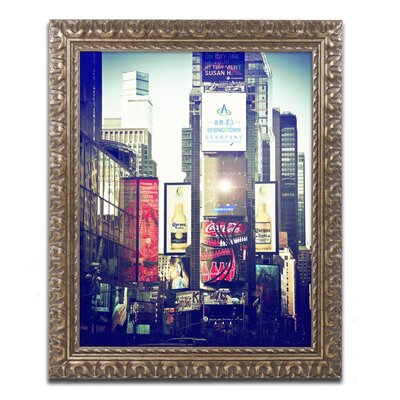 Times Square Framed Photographic Print Size: 14