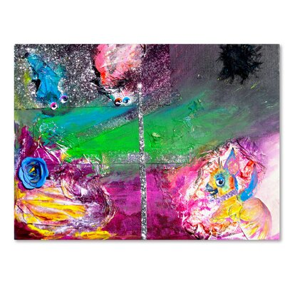Vertigo Painting Print on Wrapped Canvas Size: 14