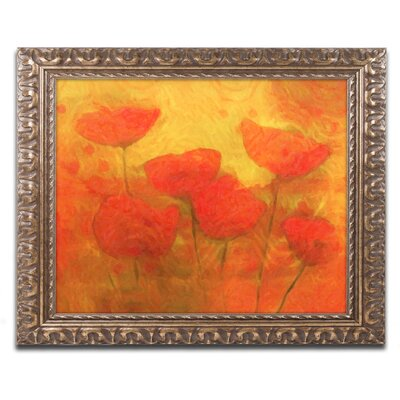 Poppies Framed Painting Print Size: 11