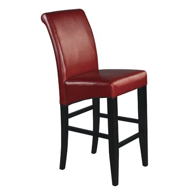 Milsons 30 Bar Stool Upholstery: Crimson Red Bonded Leather