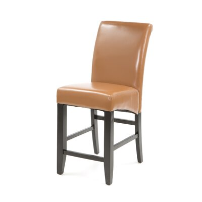 Milsons 30 Bar Stool Upholstery: Coffee Bonded Leather