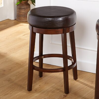 Henley 24 Swivel Bar Stool Upholstery: Brown