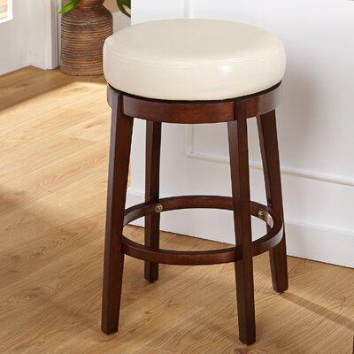 Henley 24 Swivel Bar Stool Upholstery: Cream