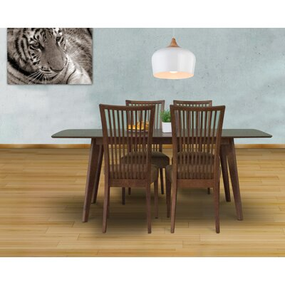 Bohostice 5 Piece Dining Set Upholstery: Latte