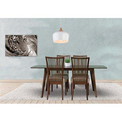 Bohostice 5 Piece Dining Set Upholstery: Khaki