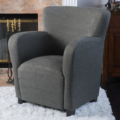 Kelsey Wing back Chair Upholstery: Gray