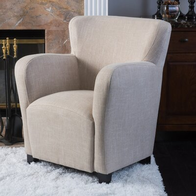 Kelsey Wingback Chair Upholstery: Light Beige