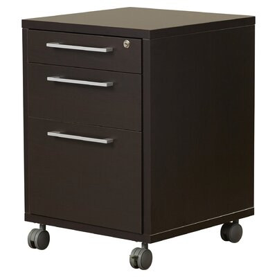 Bianca 26.85 H x 18.97 W Desk File Pedestal Finish: Coffee