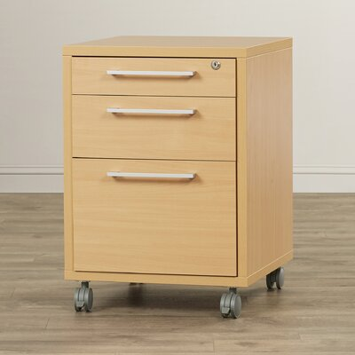 Bianca 26.85 H x 18.97 W Desk File Pedestal Finish: Beech