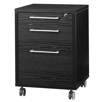 Bianca 26.85 H x 18.97 W Desk File Pedestal Finish: Black Woodgrain