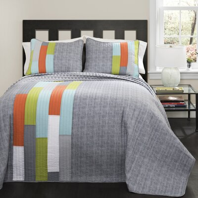 Ramsey Stripe Quilt Set Size: Twin