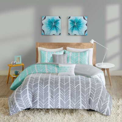 Cherie Comforter Set Size: Twin /  Twin XL, Color: Aqua