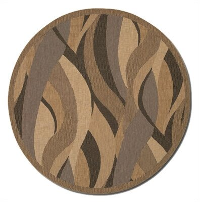 Karina Seagrass Beige Indoor/Outdoor Area Rug Rug Size: Round 76