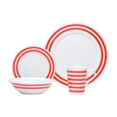 Race Stripe 16 Piece Dinnerware Set TC007-016
